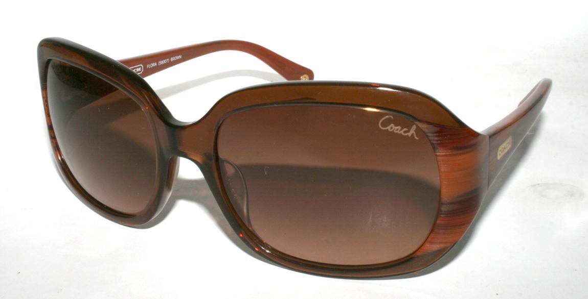 New Authentic COACH FLORA S8007 S 8007 Brown Tortoise ...