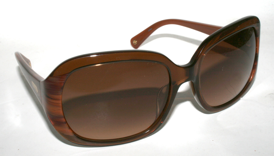 New Authentic COACH FLORA S8007 S 8007 Brown Tortoise ...