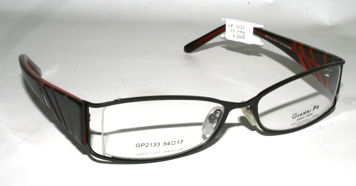 Are All Eyeglass Frames Made In China : New Authentic GIANNI PO GP 2133 54-17-135 M. Black Unisex ...
