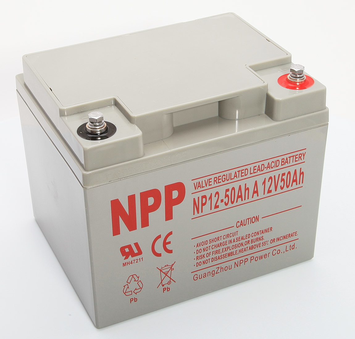 Details about New Valve Regulated Lead-Acid Battery NP12-50Ah A 12V 50Ah  Guang Zhou NPP Power