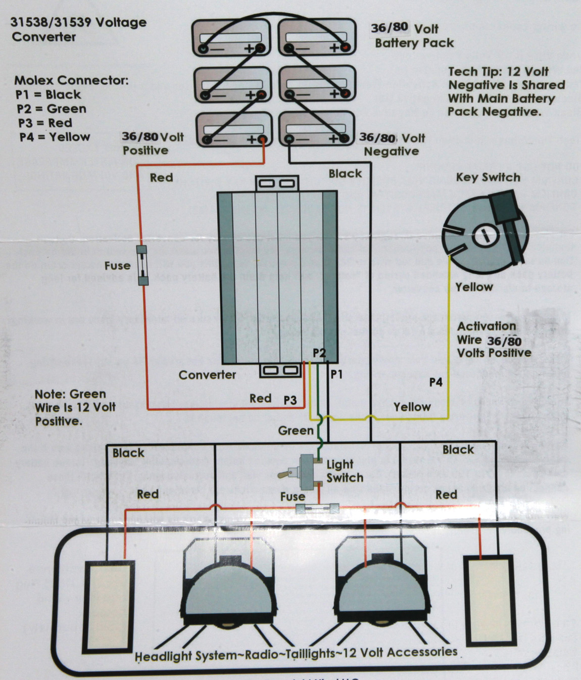 36 Volt To 12 Converter Wiring Diagram - Wiring Diagram