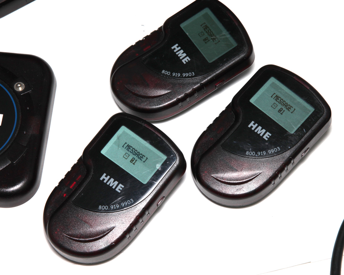 Hme Wireless Restaurant Paging System For Up To 20 Tables