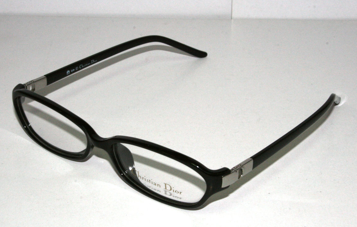 Eyeglass Frame Cleaning : NEW Authentic Christian Dior CD 3044 52 14 135 Black ...