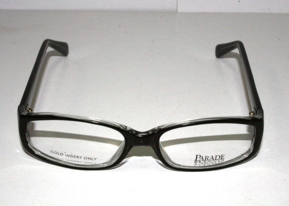 New Authentic Parade Eyewear 1565 Black 50-19-130 Eyeglass ...