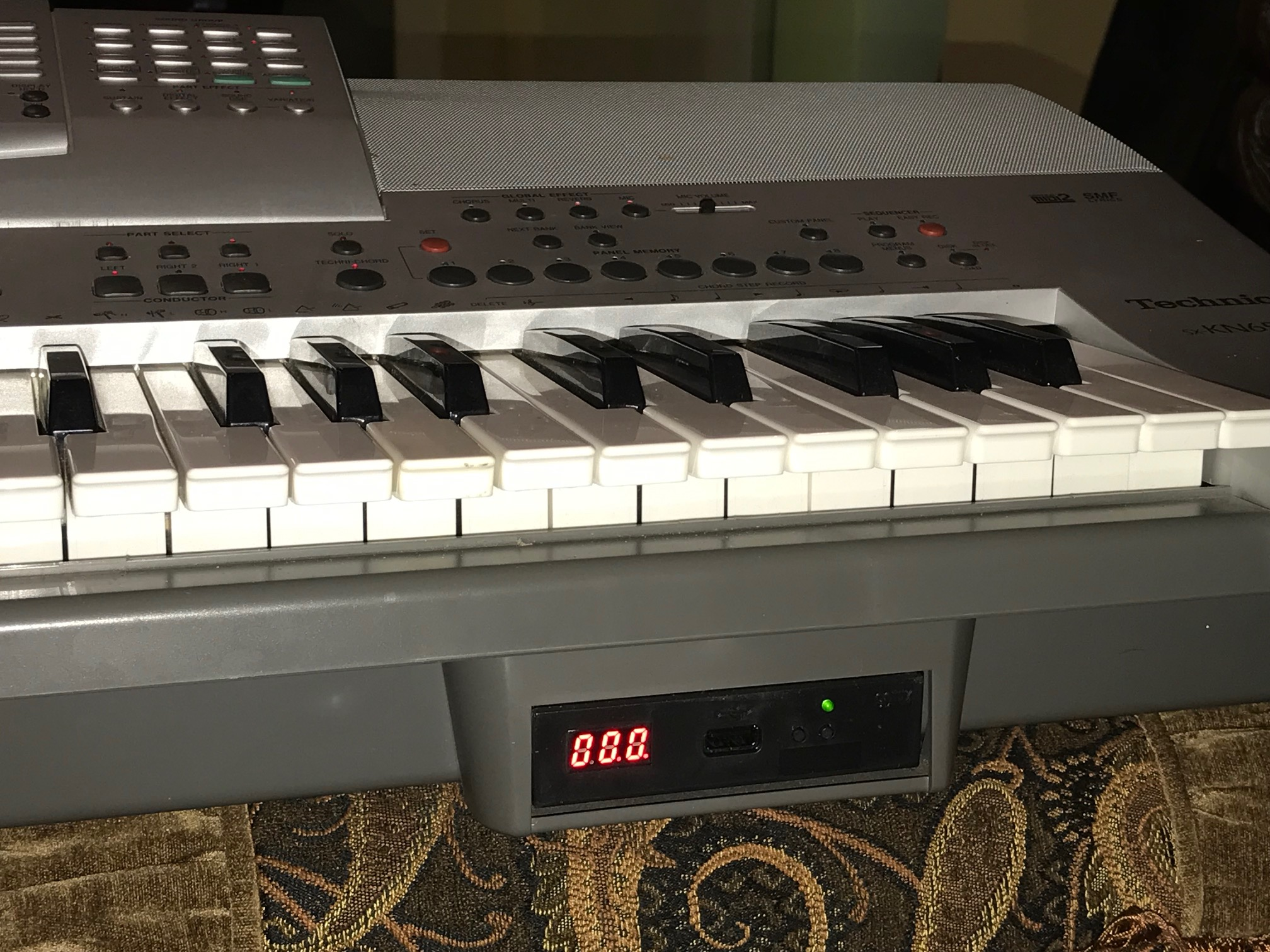 à USB Mise Kit pour Technics SX KN-5000 Synthétiseur Music Clavier Disquette Dr