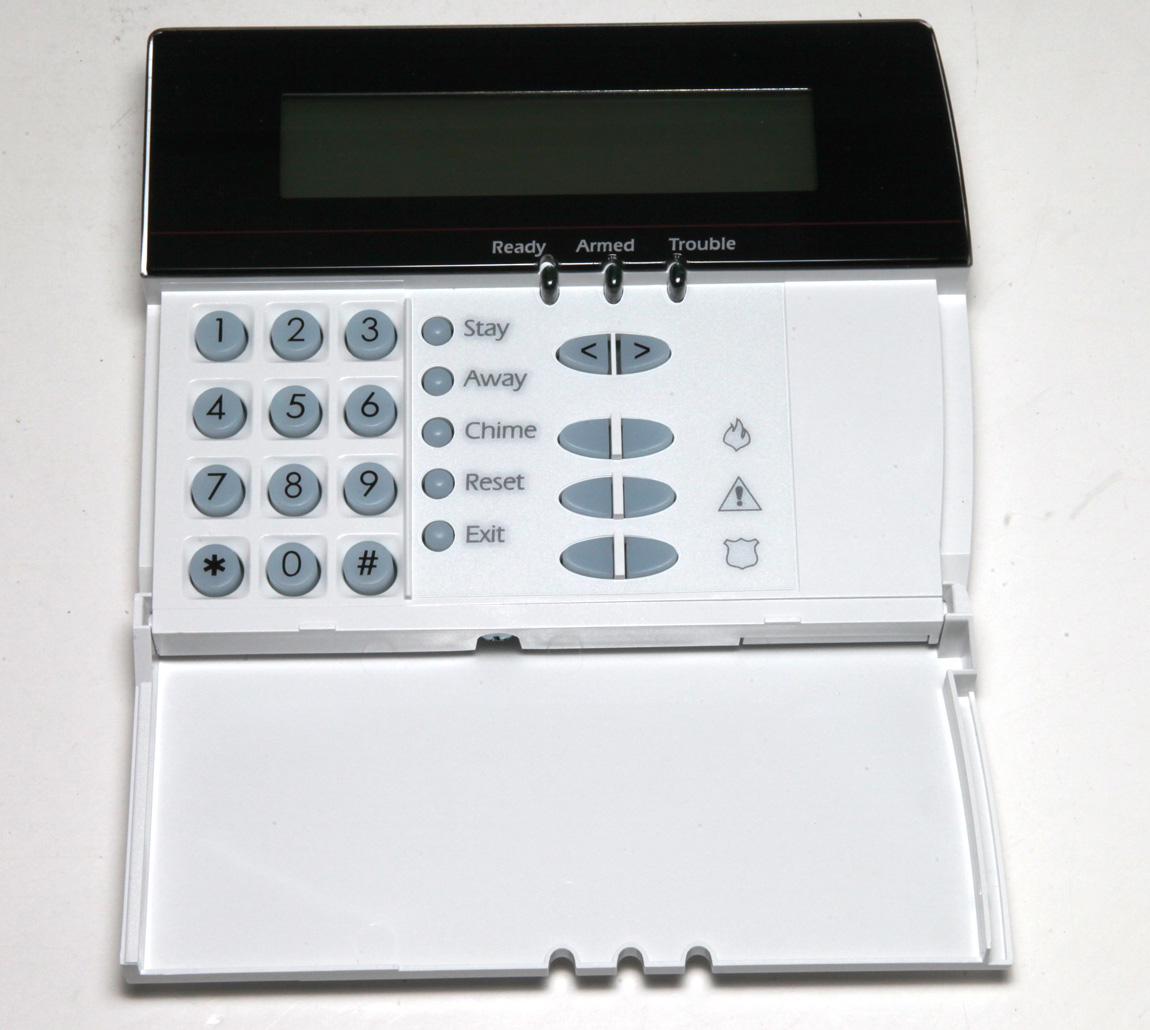 Details about New DSC Power Series LCD-5500Z LCD5500Z Alarm Keypad With  Zone Terminals NO BOX