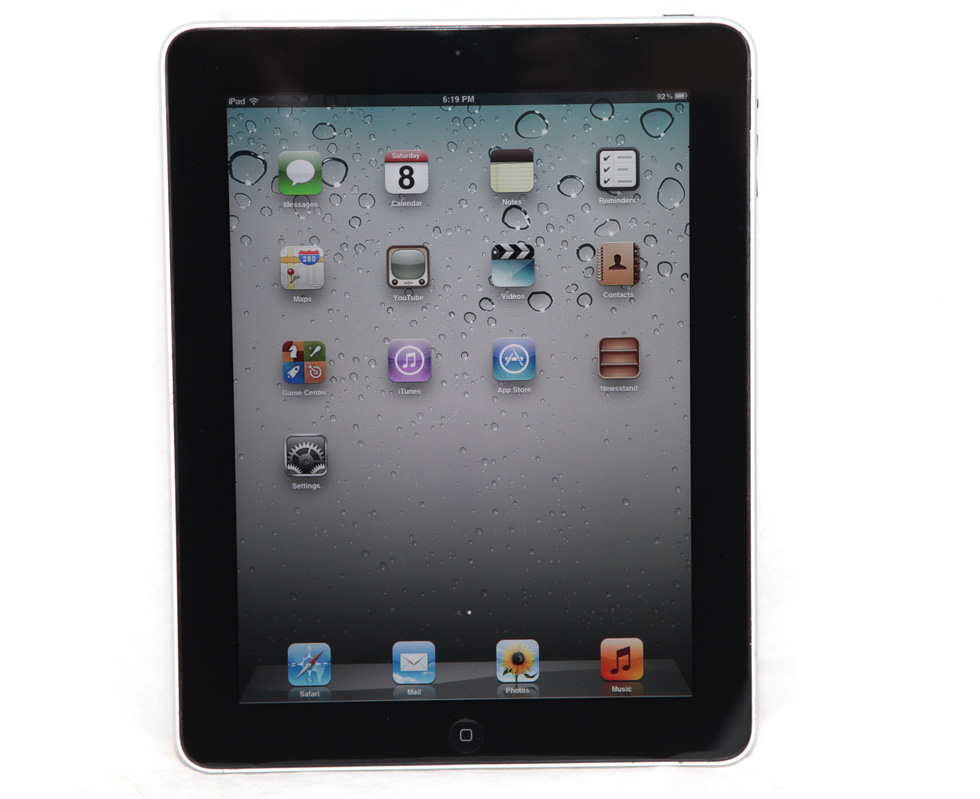 apple ipad 1st generation black 16gb mb292ll a1219 5 1 1. Black Bedroom Furniture Sets. Home Design Ideas